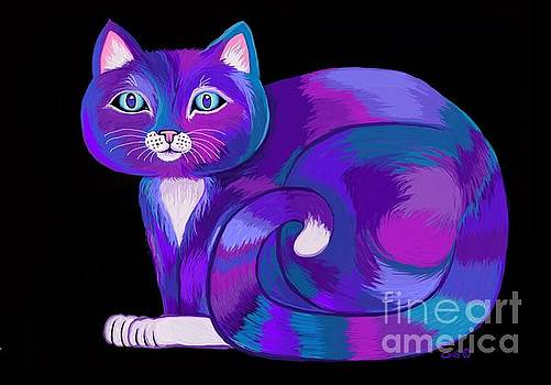 Purple Calico Cat by Nick Gustafson