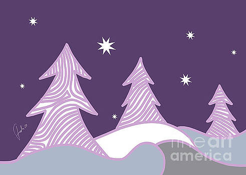 Purple Christmas  by Fady Dow