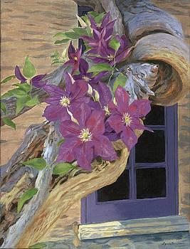 Purple Clematis by Lynne Reichhart