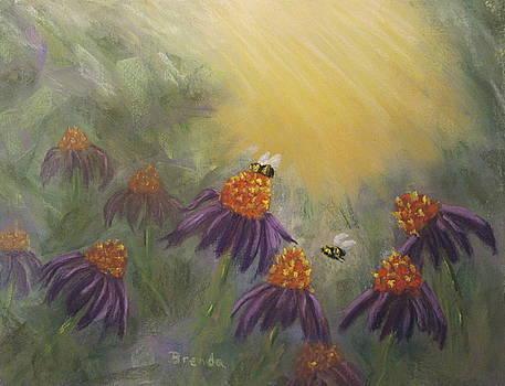 Purple Coneflowers by Brenda Maas