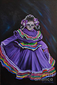 Purple Dancer 1  by Barbara  Rivera