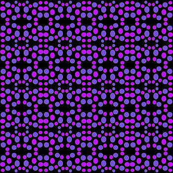 Purple Dots Pattern on black by BrightVibesDesign