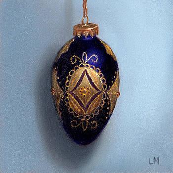 Purple Filigree Egg Ornament by Linda Merchant