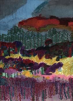 Purple Flower Field by Grant Marchand