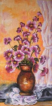 Purple flowers by Abrudan Mariana