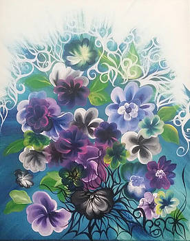 Purple Flowers by Christina Little
