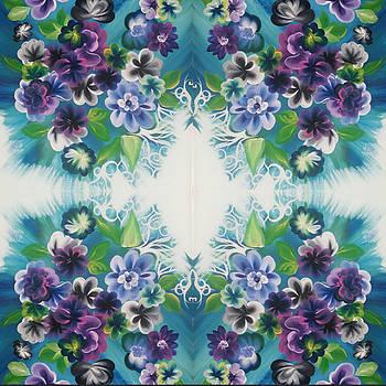 Purple Flowers Digital 2 by Christina Little