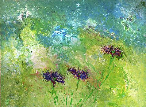 Purple Flowers by Erik Tanghe