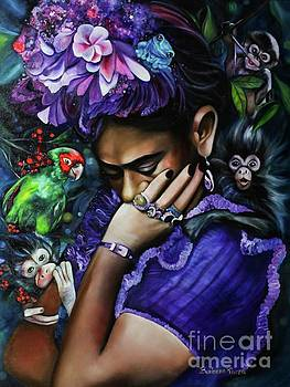Purple Frida by Barbara Rivera