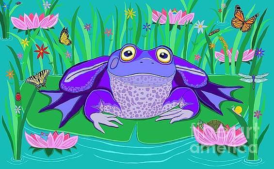 Nick Gustafson - Purple Frog on a Lily Pad