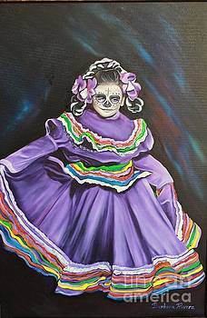Purple Girl by Barbara  Rivera