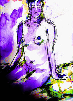 Purple Girl by Lynn Rogers