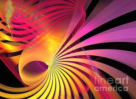 Purple Gold Seashell by Kim Sy Ok