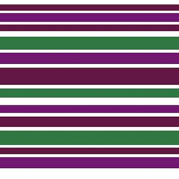 Purple Green Stripes by BrightVibesDesign