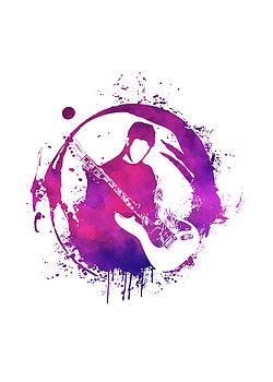 Justyna Jaszke JBJart - purple guitarist