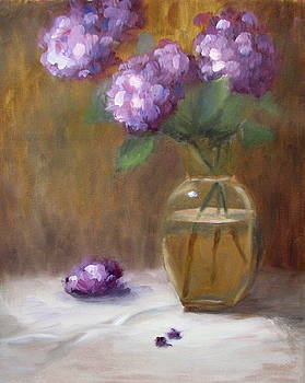 Purple Hydrangeas by Keiko Richter