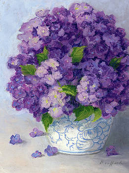 Purple Hydrangeas by Vikki Bouffard