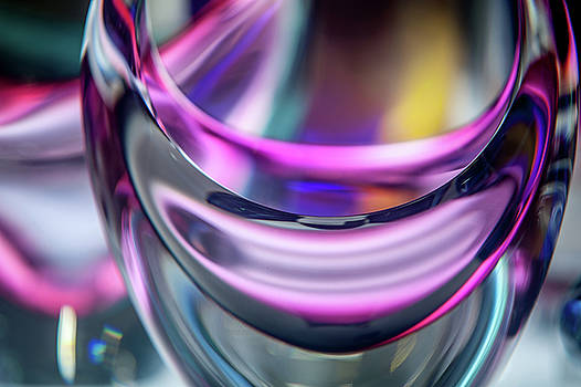 Purple Intense Glass Abstract by Jenny Rainbow