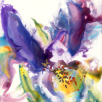 Purple Iris by Yevgenia Watts