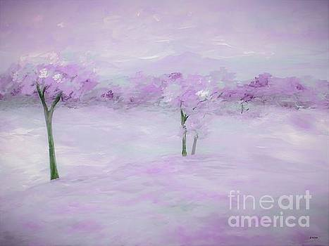 Purple Landscape with Trees by Eloise Schneider Mote