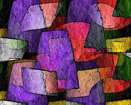 Purple Layers of Abstract by Terry Mulligan