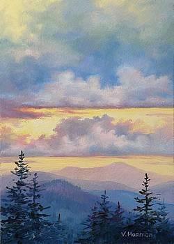 Purple Mountains by Varvara Harmon