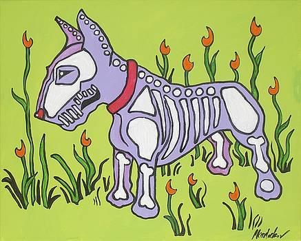 Purple N Green Bull Terrier by Mardi Claw