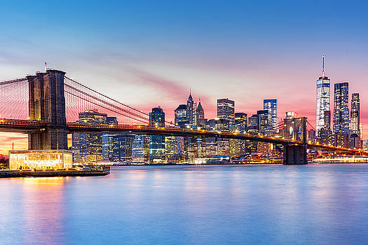 Purple NYC sunset by Mihai Andritoiu