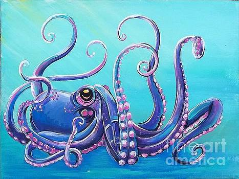 Purple Octopus by Renee Hilimire