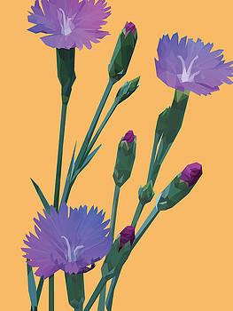 Purple on Yellow by David Lange