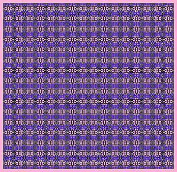 Purple Original Abstract Pattern by Mohammad Safavi naini
