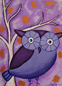 Purple Owl by Amy Parker