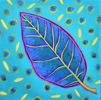 Purple Passion Leaf by Peggy Davis