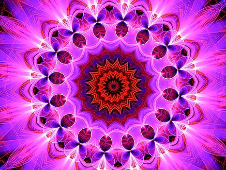 Purple, Pink and Orange Kaleidoscope by Ernst Dittmar