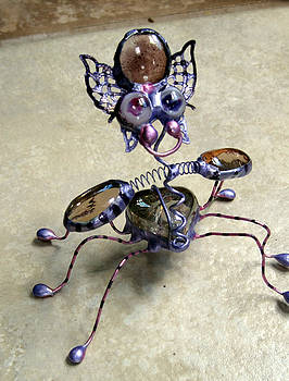 Purple Pink Heart Bug by Maxine Grossman
