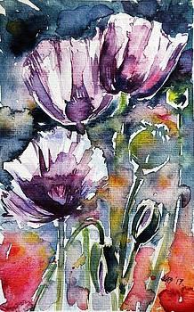 Purple poppies 13 by Kovacs Anna Brigitta