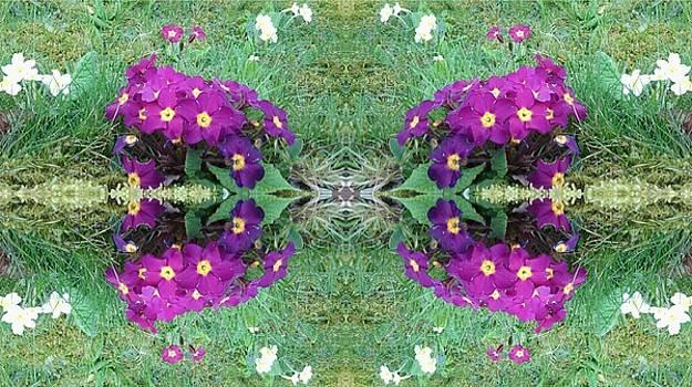 Purple Power Flowers by Julia Woodman