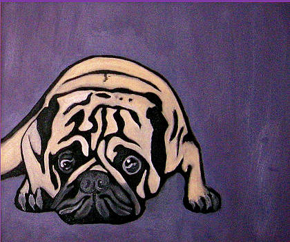 Purple Pug by Darren Stein