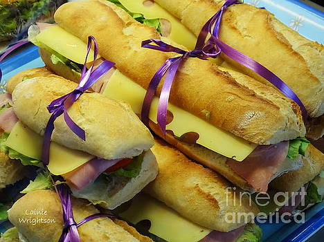 Purple Ribboned Sandwiches by Lainie Wrightson