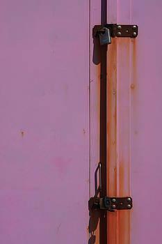 Purple Rusty Door Lock by Darren Kearney