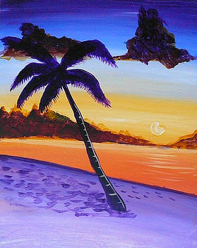 Purple Sand Palm Tree by Richard Fritz