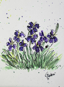 Purple Spring by Gaynell Parker