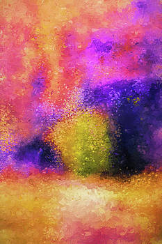 Jai Johnson - Purple Spring Impressionist Landscape Painting