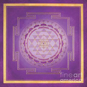 Purple Sri Yantra by Allison Prettyman