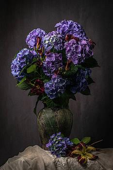 Purple Still Life by Jerri Moon Cantone