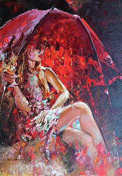 Purple Strings Of A Rain by Denis Eutikhiev