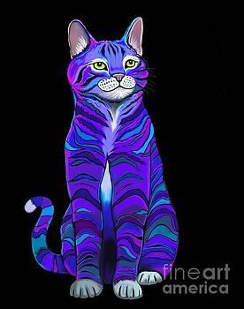 Nick Gustafson - Purple Striped Cat