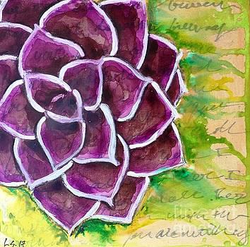 Purple Succulent by Leanne Schuetz
