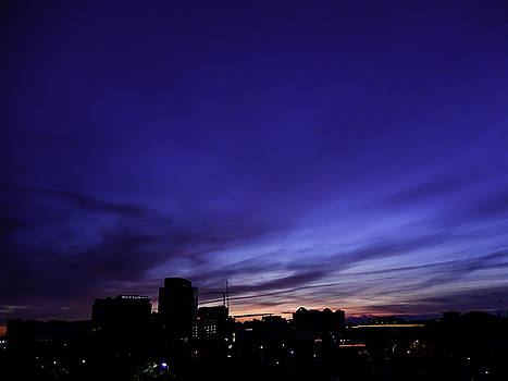 Purple Sunrise Oct 2015 by Kelly E Schultz