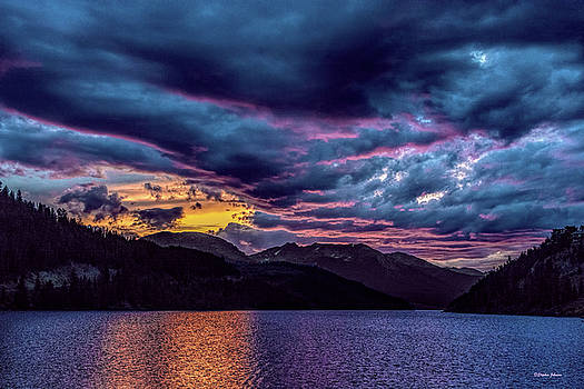 Purple Sunset at Summit Cove by Stephen Johnson